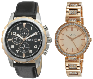 Best Fossil Couple Watches - analogue watches for his and her