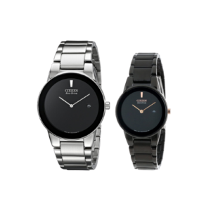 Citizen Black and White Custom Paired couple watch