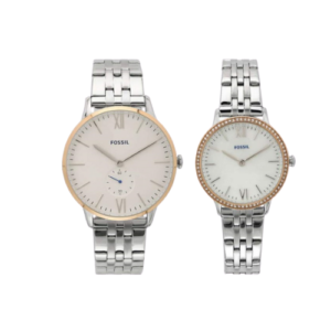 Fossil Silver Couple Watches