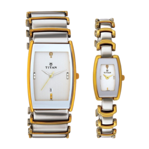 Titan Bandhan Analog Multicolor Dial Couple Watch