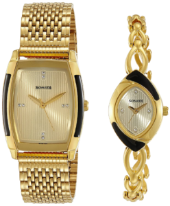 Sonata Analog Gold Couple Watches