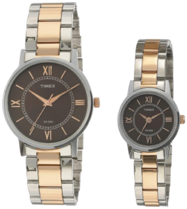Timex Analog Brown Dial Couple Watches