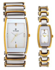 Titan Bandhan Analog Multicolor Dial Couple Watch - 1