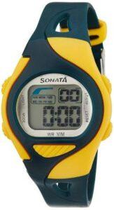 Sonata Super Fibre Digital Grey Dial Mens Watch