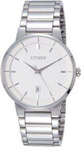 Citizen Analog White Dial Mens Watch under 10000