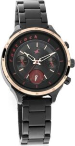 Fastrack All Nighters Analog Black Dial Womens watch under 10000 combo
