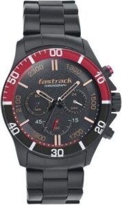 Fastrack Analog Black Dial Mens Watch udner 10000 combo