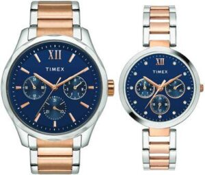 Timex Analog Blue Dial Unisex couple Watch
