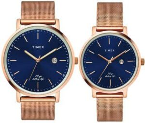 Timex Analog Blue Dial Unisex couple Watches under 10000 rs