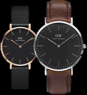 Daniel Wellington Petite Ashfield & Classic Bristol Couple Watch Gift Set for Parents - costly present