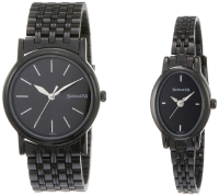 Sonata Analog Black Couple Watches