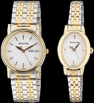 Sonata Analog Silver Dial Unisex Watch