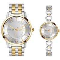Timex Analog Silver Couple Watches