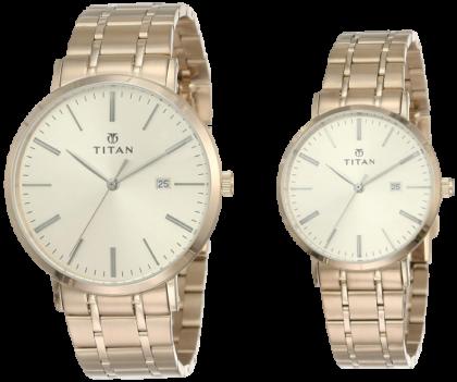 Titan Modern Bandhan Analog Pink Dial Unisex's Watch