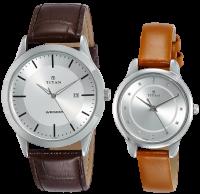 Titan Modern Bandhan Analog Silver Dial Unisex Watch - pair 7